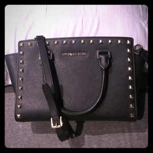 Michael Kors studded satchel